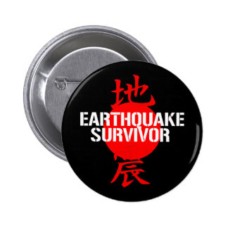 EARTHQUAKE SURVIVOR PINS