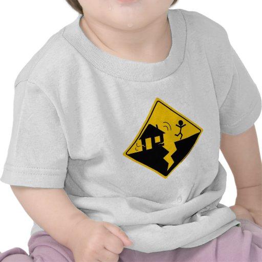 Earthquake Warning Merchandise and Clothing Tee Shirt