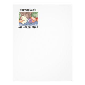 Earthquakes Are Not My Fault (Plate Tectonics) Letterhead