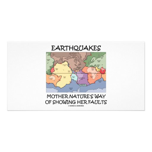 Earthquakes Mother Nature's Way Showing Faults Photo Card Template