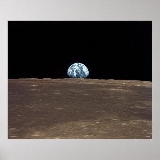 Earthrise - Apollo 11 Poster