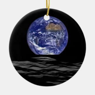 Earthrise Ceramic Ornament
