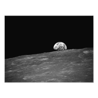 Earthrise from Apollo 8 Moon Mission Photo Print