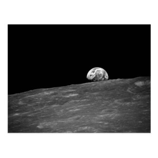 Earthrise from Apollo 8 Moon Mission Postcard