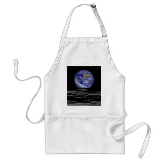 Earthrise From The Farside Of The Moon Standard Apron