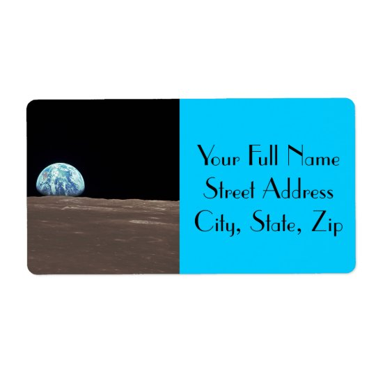 Earthrise from the Moon Shipping Label