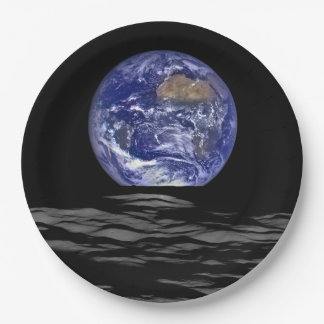Earthrise Paper Plate