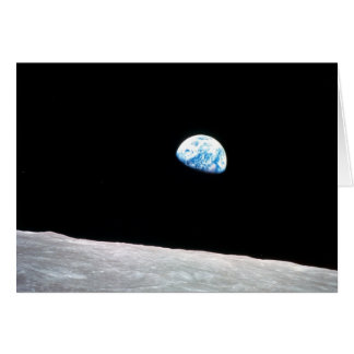 Earthrise:with quote-- Shot from Apollo 8 Card