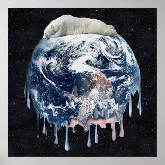 Earth's Bear Hug (Full Universe Background) Poster