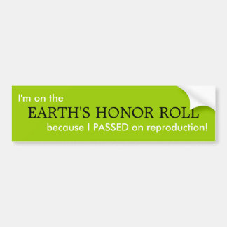 EARTH'S HONOR ROLL BUMPER STICKERS