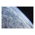 Earth's horizon against the blackness of space photo