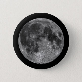 Earth's Moon in Outer Space 2 Inch Round Button