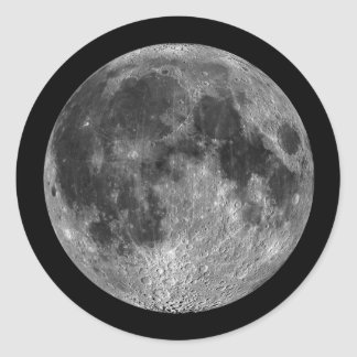 Earth's Moon in Outer Space Classic Round Sticker