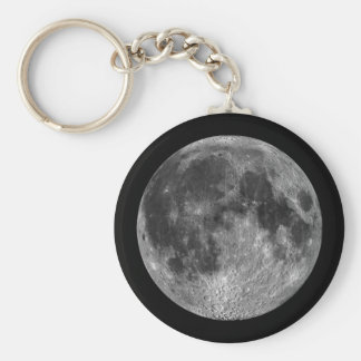 Earth's Moon in Outer Space Keychain