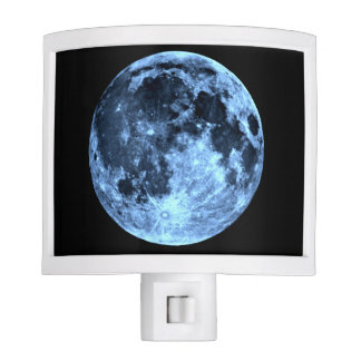 Earth's Moon in Silver Blue Night Lite