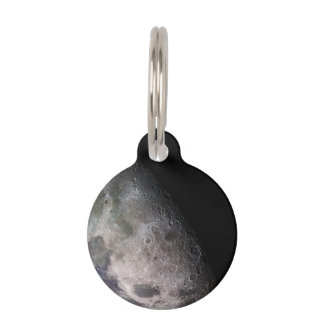 Earth's Moon Pet Name Tag