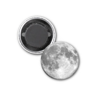 EARTH'S MOON (solar system) ~ 1 Inch Round Magnet