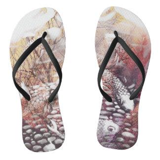 Earthtone Koi Flip Flops