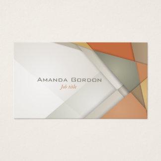 Earthtone make up artist business card