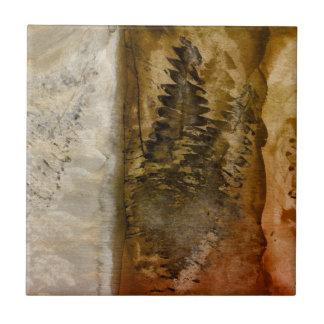 Earthtone Watercolor - Brown Warm Earth Tones Fern Ceramic Tiles