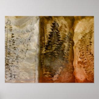 Earthtone Watercolor - Brown Warm Earth Tones Fern Poster