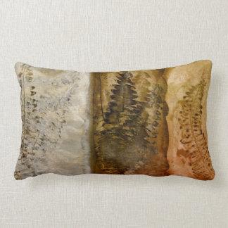 Earthtone Watercolor - Brown Warm Earth Tones Fern Throw Pillow