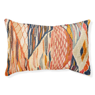 Earthy Abstract Geometric Dog Bed