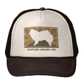 Earthy American Eskimo Dog Gifts Trucker Hat