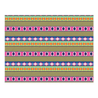Earthy Aztec Tribal Borders Postcard