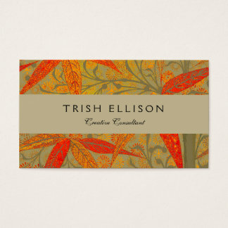 Earthy Bamboo Art Print Illustration Colorful Business Card