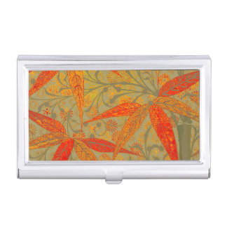 Earthy Bamboo Art Print Illustration Colorful Business Card Case