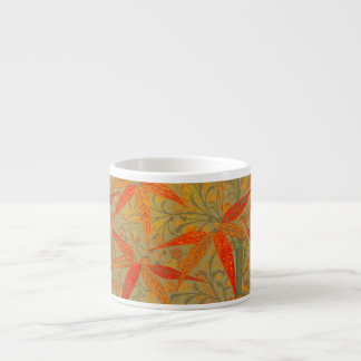 Earthy Bamboo Art Print Illustration Colorful Espresso Cup
