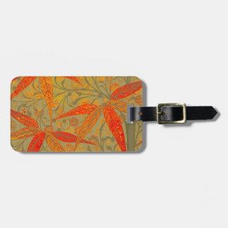 Earthy Bamboo Art Print Illustration Colorful Luggage Tag