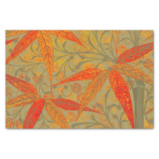 Earthy Bamboo Art Print Illustration Colorful Tissue Paper