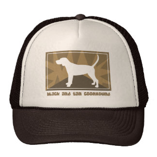 Earthy Black and Tan Coonhound Gifts Trucker Hat