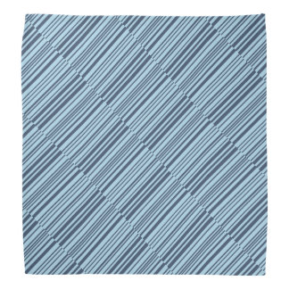 Earthy Blue Stripes Bandana