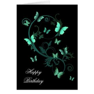 Earthy Butterflies Card