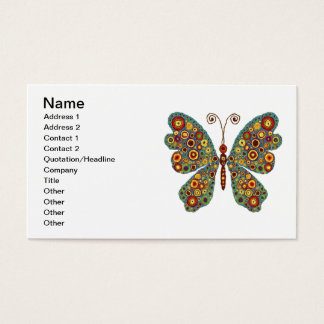 Earthy Butterfly Business Card