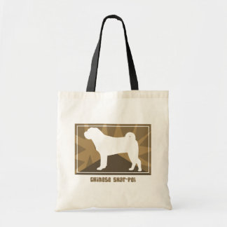 Earthy Chinese Shar Pei Tote Bag