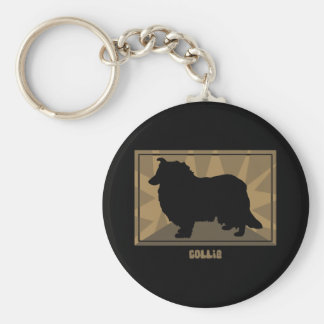Earthy Collie Keychain