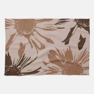 Earthy Gerbera Flowers Kitchen Towel
