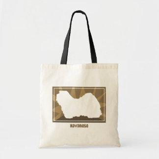 Earthy Havanese Tote Bag