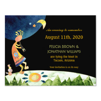 Earthy Kokopelli Wedding Save the Date Card