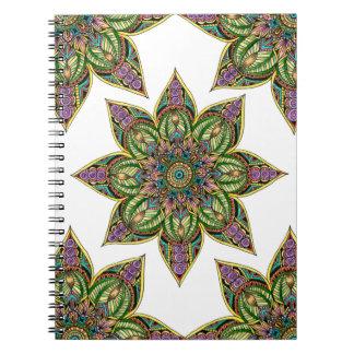 Earthy Mandala Design Spiral Notebook