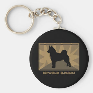Earthy Norwegian Elkhound Keychain