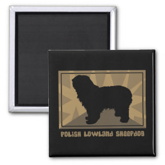 Earthy Polish Lowland Sheepdog Magnet