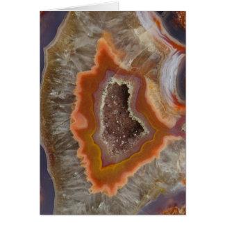 Earthy Quartz Crystal Druzy Card