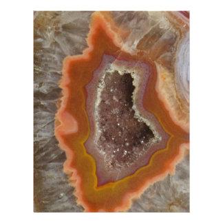 Earthy Quartz Crystal Druzy Letterhead