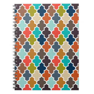 Earthy Quatrefoil Notebooks