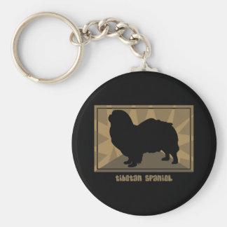 Earthy Tibetan Spaniel Keychain